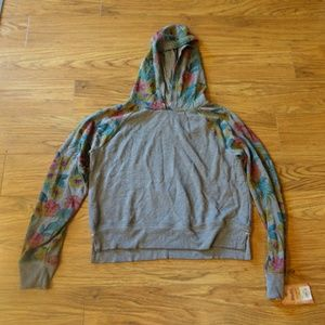 Mudd Hawaiian Tropical Floral Crop Hoodie Girls